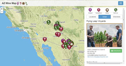 Click to view a larger imagine of the Wine Trail Map