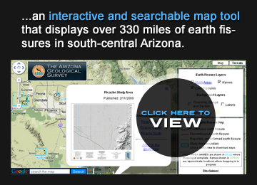 Natural Hazards in Arizona Map