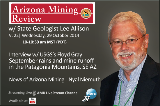 Watch Arizona Mining Review Live - Wednesday, October 29th at 10 am!