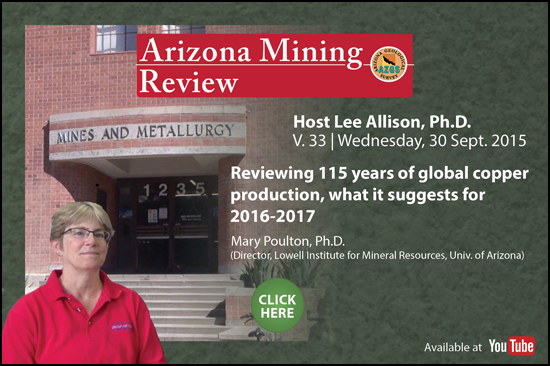 Watch the Arizona Mining Review on YouTube!